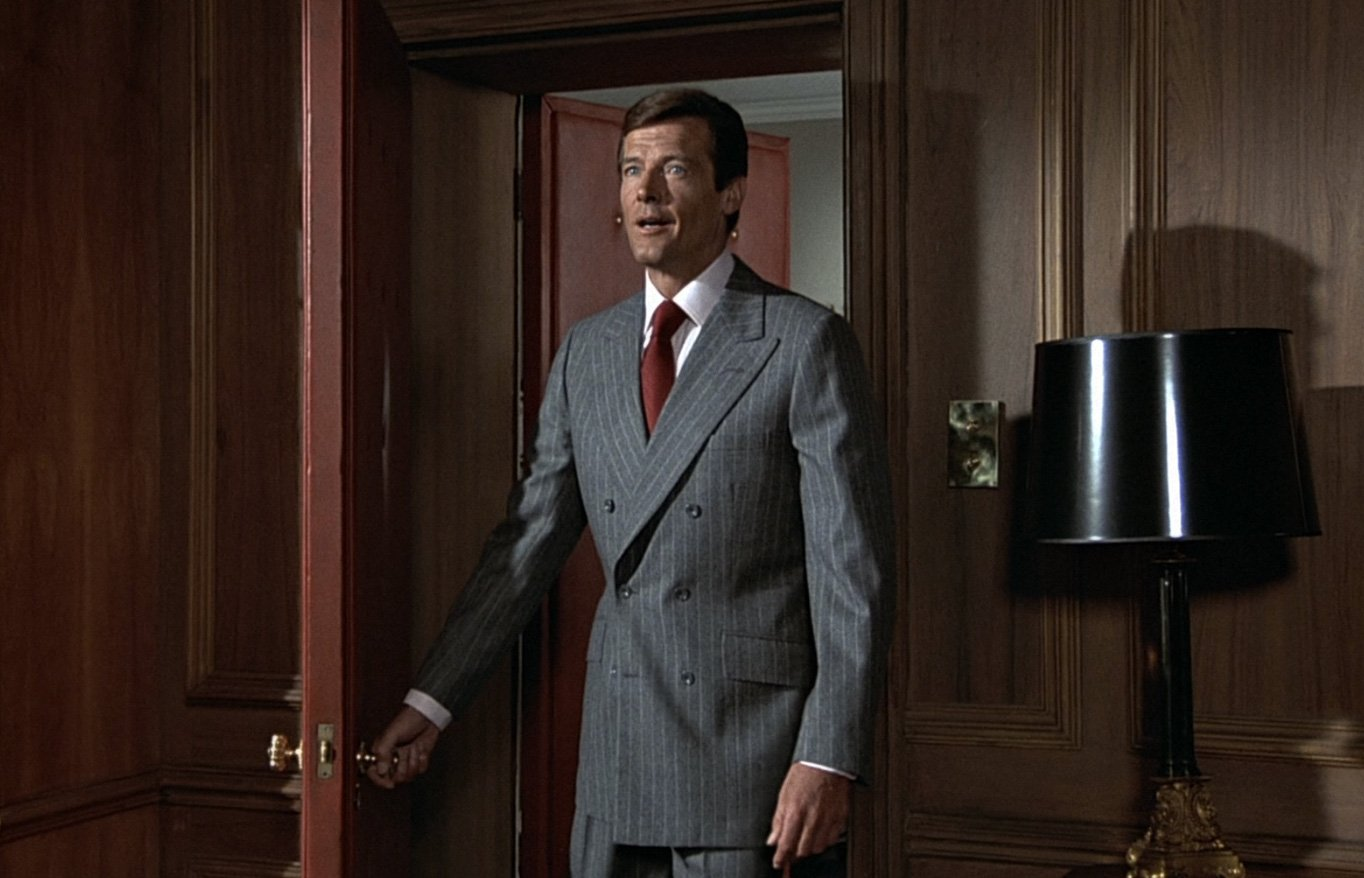Double-Breasted Chalk Stripe Suit in The Man With the Golden Gun ...