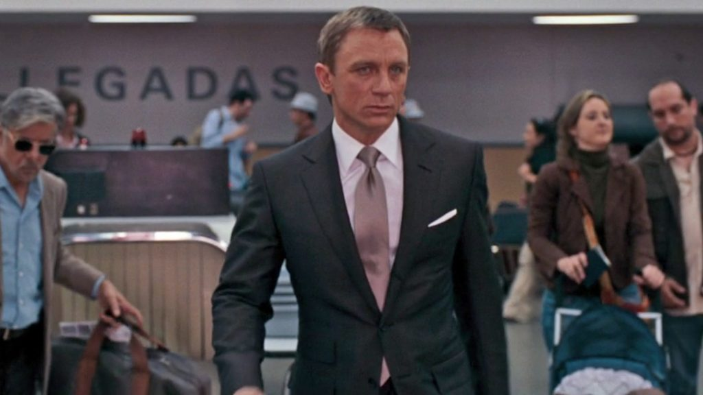 Daniel Craig wearing Tom Ford in Quantum of Solace