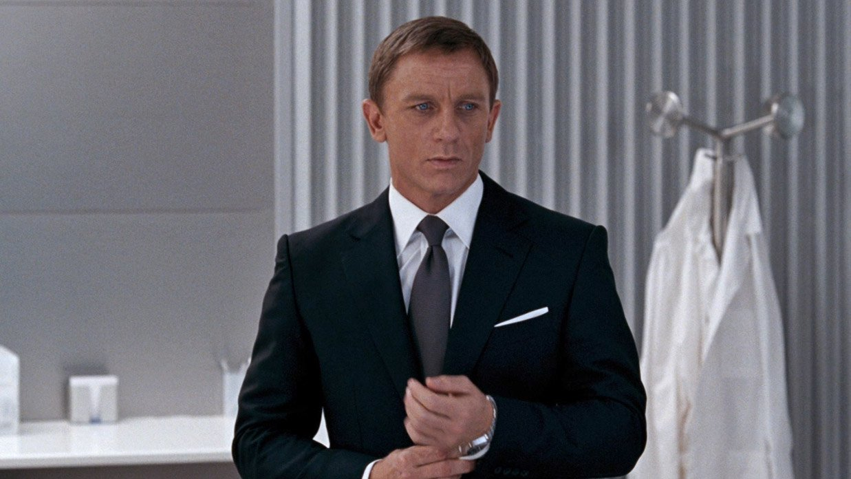 Not Quite Black—A Charcoal Suit in London in Quantum of Solace ...