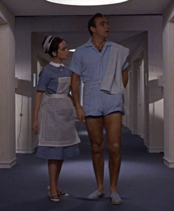 6547ab359da4 The Infamous Terrycloth Playsuit in Goldfinger – The Suits of James Bond