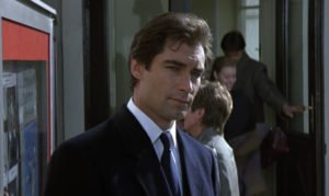 Timothy Dalton Navy Overcoat