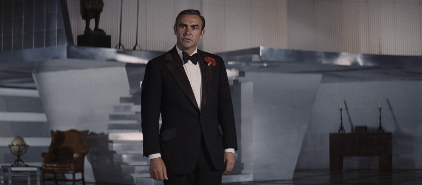 A Flamboyant Black Dinner Suit In Diamonds Are Forever The