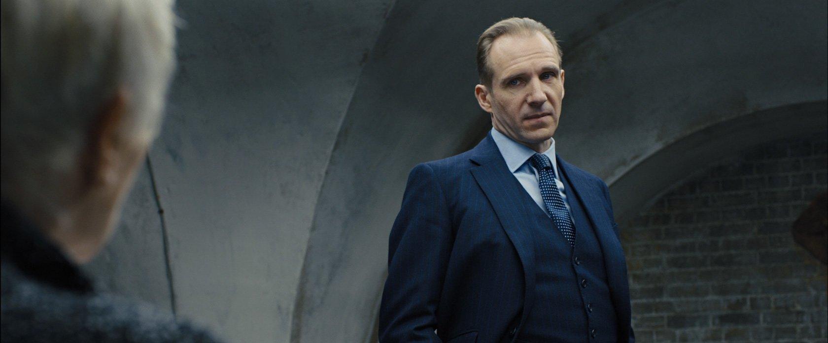 Gareth Mallory Blue Chalk Stripe Suit The Suits Of James Bond