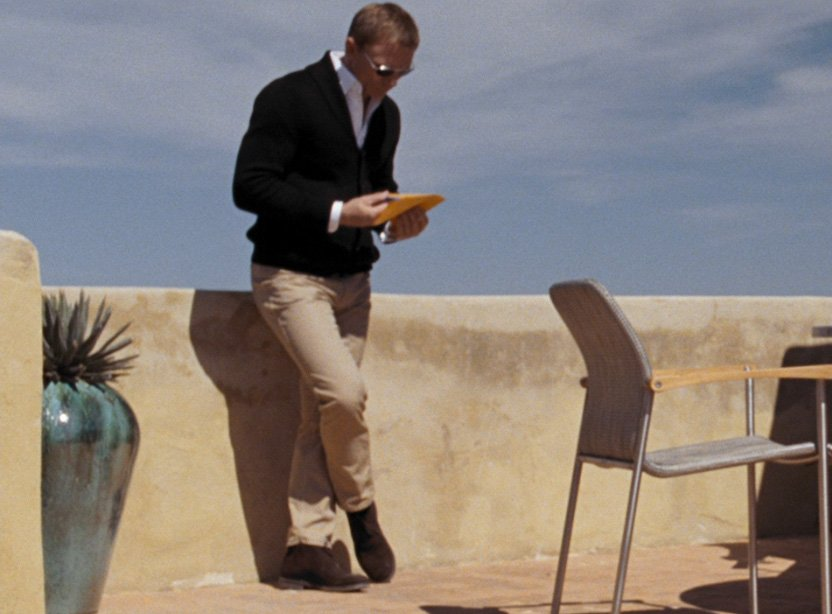 The Shawl Collar Cardigan In Quantum Of Solace The Suits