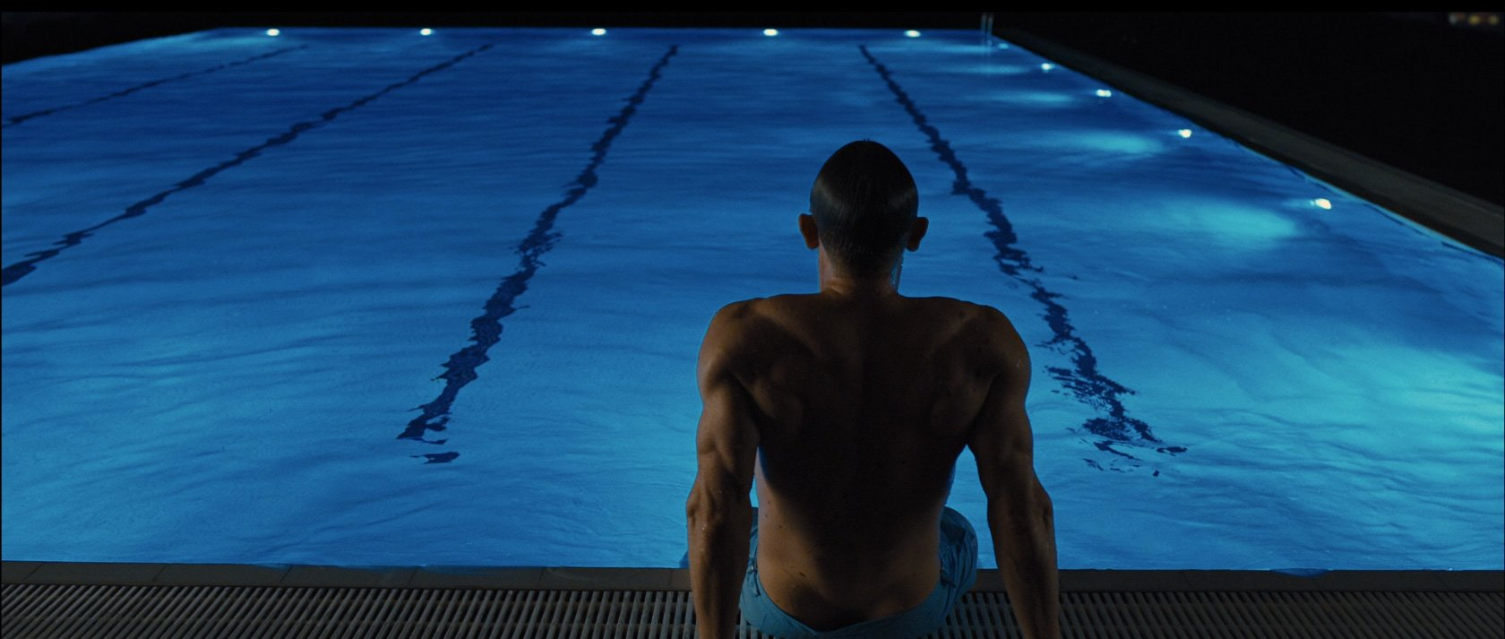e6f450c0b8a57 Blue Swimming Trunks Again in Skyfall – The Suits of James Bond