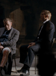 Daniel Craig's flat front suit trousers in Quantum of Solace have turn-ups