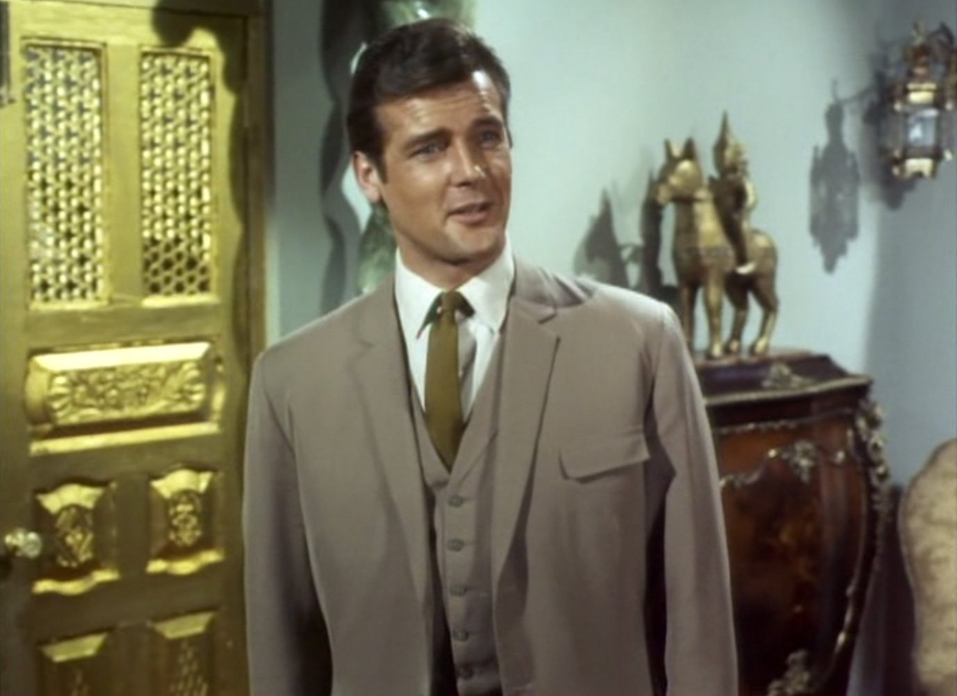 The Saint: The Light Brown Three-Piece Suit – The Suits of James Bond