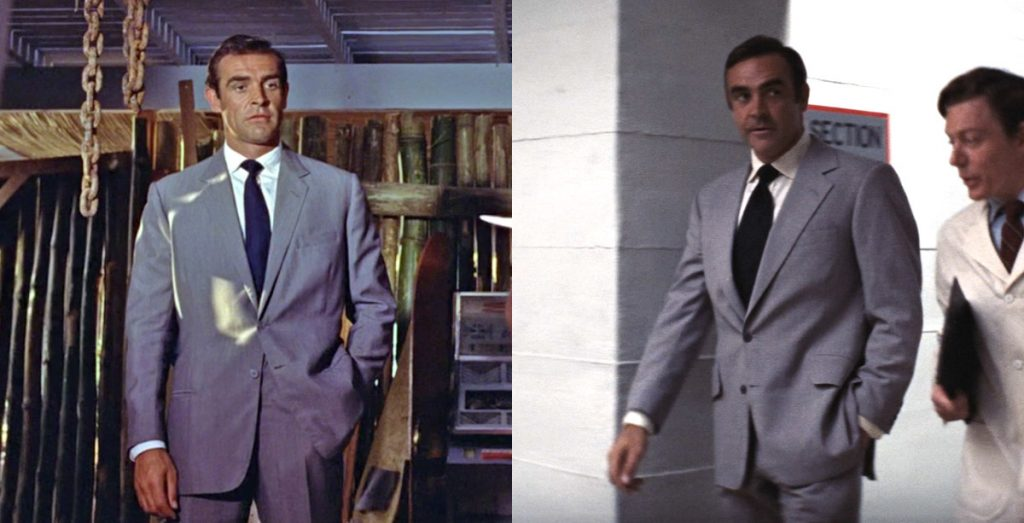Dr. No, left, and Diamonds Are Forever, right
