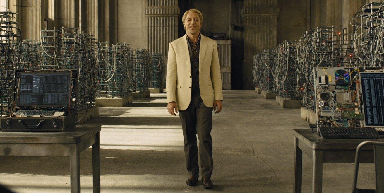 Silva: Cream Jacket and Printed Shirt – The Suits of James Bond