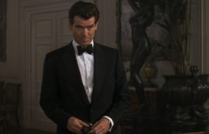 Notice the bulge in Pierce Brosnan's dinner jacket