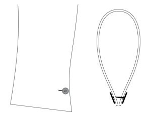 An illustration of the flared link cuff