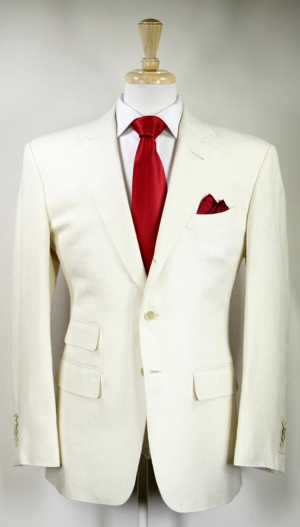 Quantum of Solace Cream Silk Suit