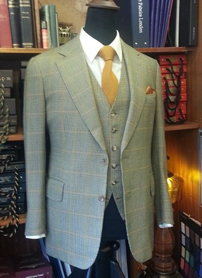 A tweed three-piece suit made by Major Tailors