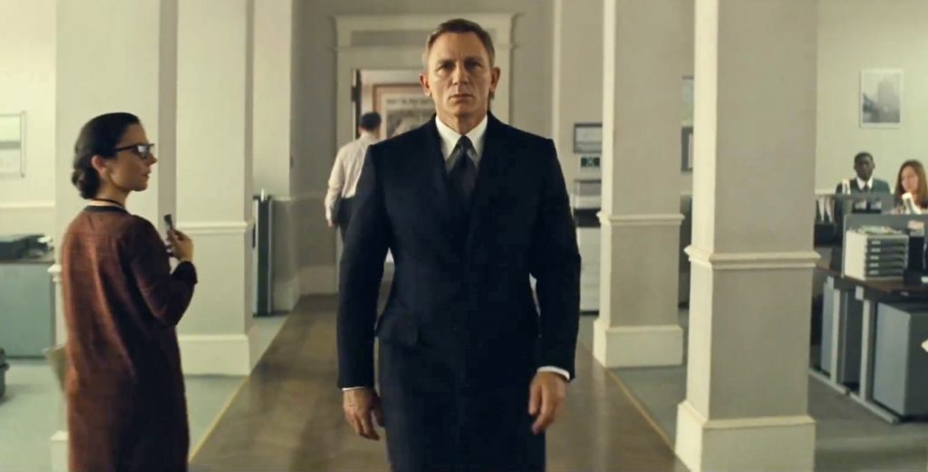 The crombie coat, from a cut scene in Spectre