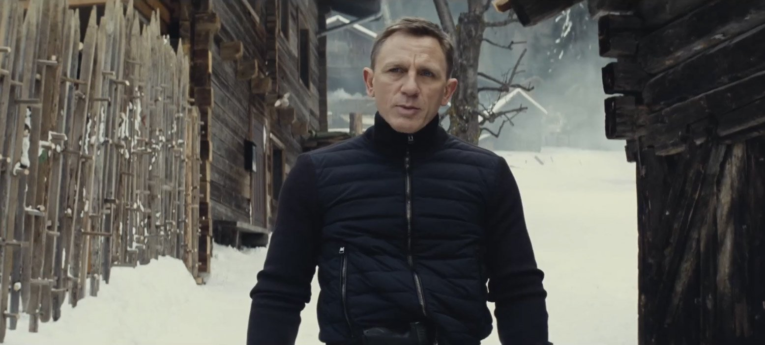 a nylon front blouson and ski trousers in solden in spectre the suits of james bond. Black Bedroom Furniture Sets. Home Design Ideas