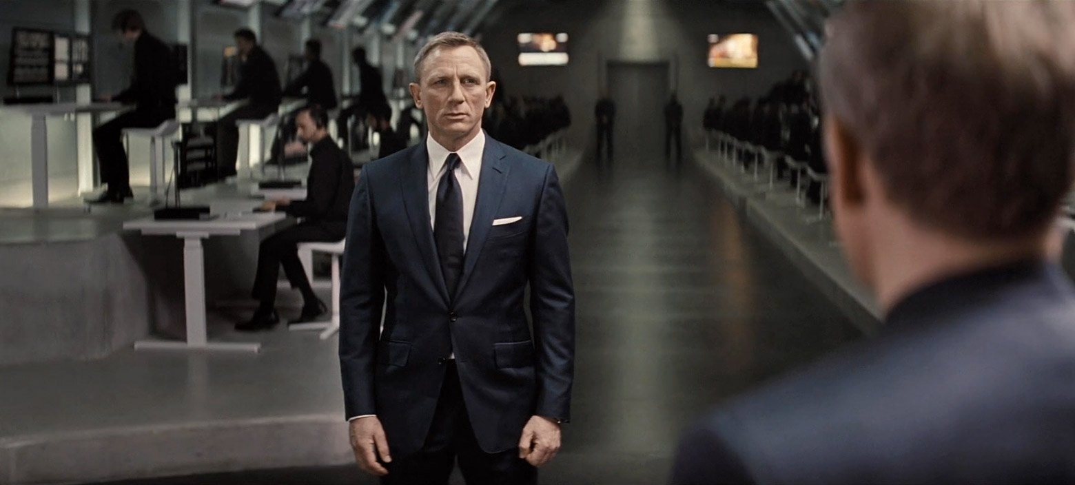 The Navy Blue Sharkskin Suit In Spectre The Suits Of James