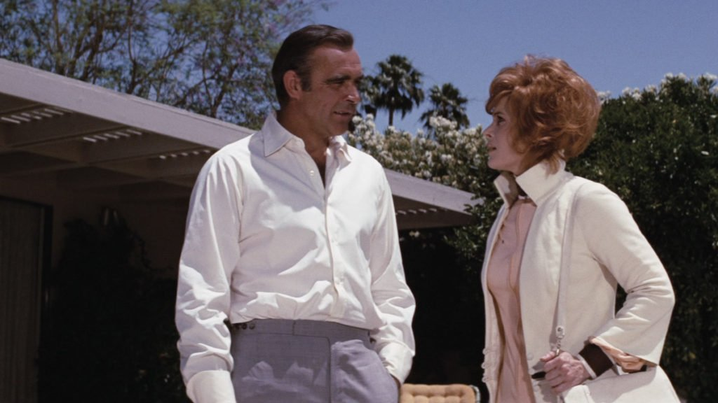 Sean Connery shows in Diamonds Are Forever where suit trousers should sit on the waist.