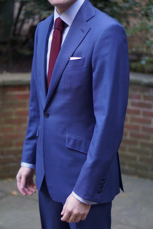 X-Future Men Long Sleeve Business One Button One Button Suit Blazer Jacket Coat