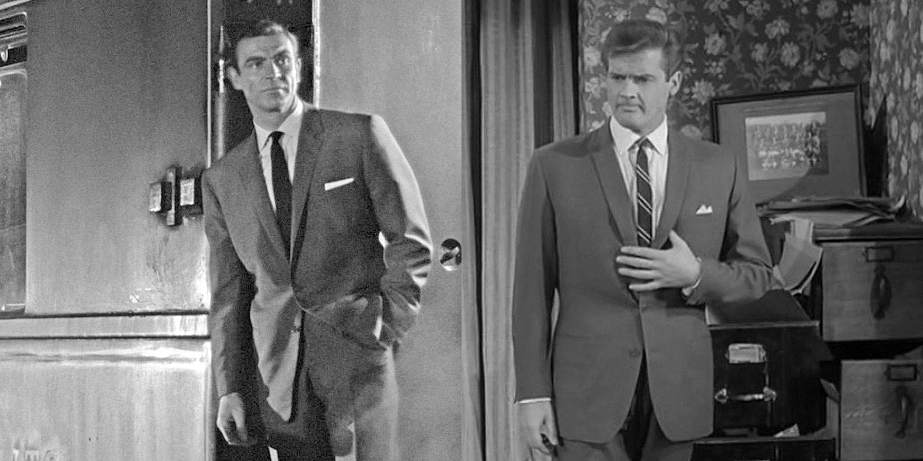 The Saint Hommes Britannique TV Drama Capuche Roger Moore Spy James Bond 007
