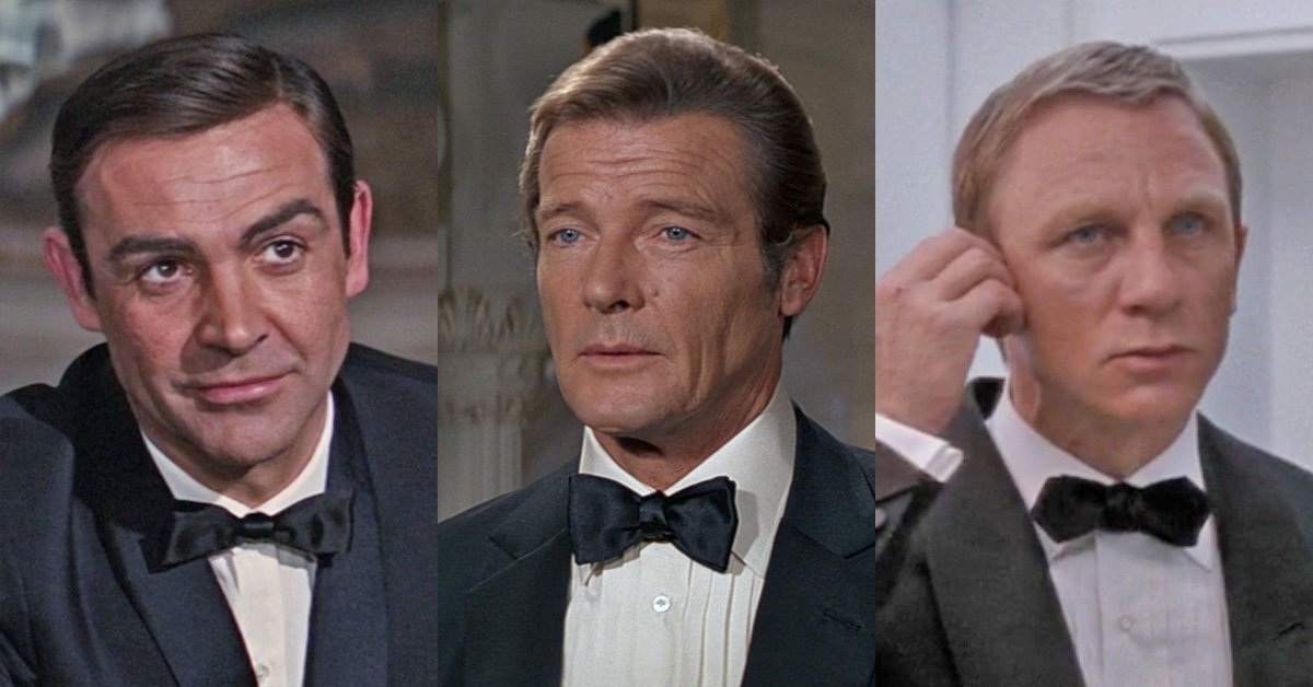 bd8c380afbc2 James Bond's Bow Tie Shapes and Sizes – The Suits of James Bond